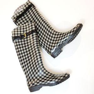 EUC Lauren Ralph Lauren Houndstooth Rain Boots